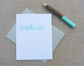Letterpress Greeting Card - Father's Day Card - Truthnote - I'm Glad You're My Godfather - TRN-436
