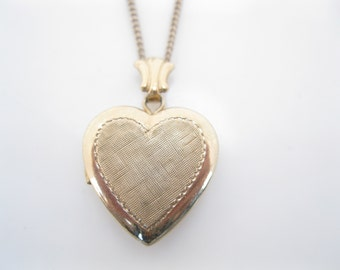 Antique tiny heart locket