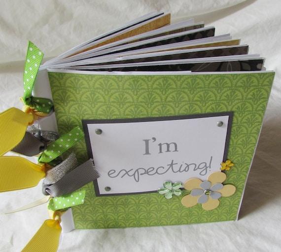 PaPeR BaG album premade scrapbook journal - PREGNANCY- I'm ExPEcTing