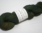hand dyed yarn - Quick Step Sock - Evergreen Soul colorway (dyelot 71916)