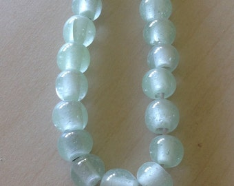 Indonesian Handmade Glass Beads Minted Drops