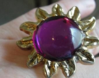 Purple Sunshine Adjustable Ring