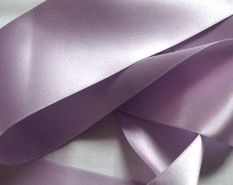 Helio Double Satin Ribbon. 70mm per metre.