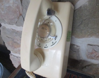Vintage Rotary Wall Telephone - Stromberg Carlson Phone - 1970s - FREE SHIPPING