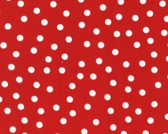 Jingle Christmas Fabric by Ann Kelle and Fabric Shoppe Etsy Fabric- Remix Basic Dots in Red. You Choose the Cut. Free Shipping Available