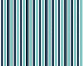 Sports fabric, Boy fabric, Football Fabric, Boy Nursery, Play Ball fabric by Riley Blake, Play Ball Stripe in Navy, Fabric by the Yard
