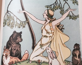 1930s Beautifully Illustrated Childrens Book- Folk Tales