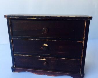 Signed Handmade Miniature Dollhouse Dresser 1876 Salem