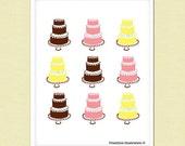 Funny Kitchen Art - Kitchen Sign - Food - Cakes - Art Print - wedding sign
