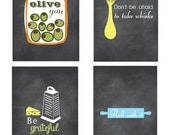Kitchen Art, Kitchen Wall Art, Inspirational Quotes, Funny Kitchen Signs, Chalkboard Inspired Prints