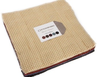 """Cottonworks Wovens Moda Layer Cake, 42 - 10"""" precut fabric quilt squares by Minick & Simpson"""