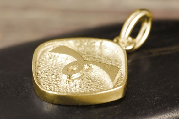 Aries zodiac pendant in gold - Double sided, yellow gold, white gold, rose gold, 10kt, 14kt, 18kt