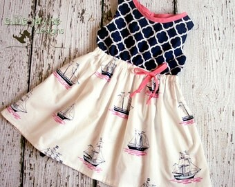 Oceans Adventure Junie dress RTS ready to ship size 3T ON SALE
