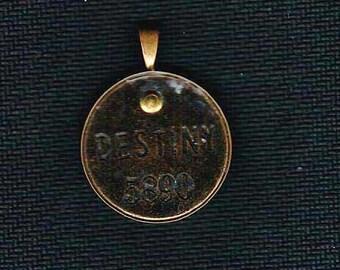 Handmade Cold Connection Destiny Pendant Charm Antique Brass