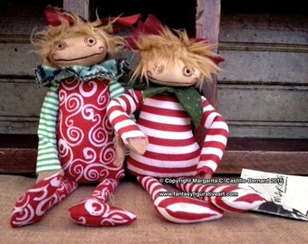 Adele primitive girl bjd prop art doll accessory xmas Christmas gift