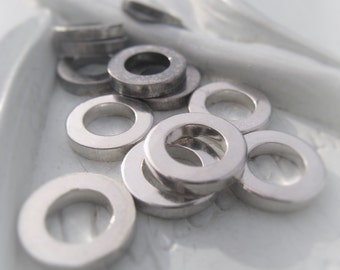 Sterling Silver Ring 10mm Connector Oxidized Sterling Washer Donut Item No. 3382 3427