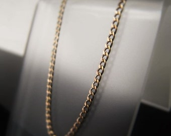Antique Gold Chain Oxidized Gold Chain by the foot Ultra Petite Curb Chain 1x3mm Item No. 1462