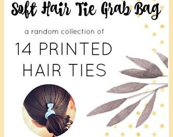 Soft Hair Ties PRINTED Grab Bag