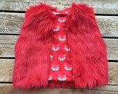 SALE Fur Vest Pattern with sizing for 6 months- 12 girls PDF Instant Download