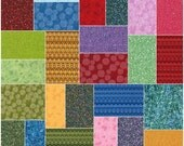"Robert Kaufman TEXTURE SPECTRUM BRIGHT Precut 5"" Charm Pack Fabric Quilting Cotton Squares chs-456-42"