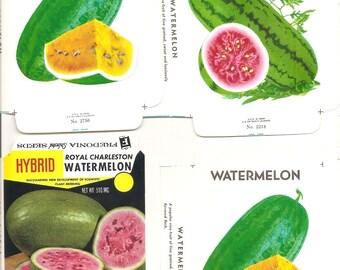 20 Vintage FLOWER / VEGETABLE Unfolded Vegetable Seed Packs