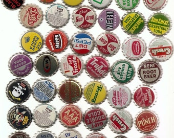 77 Unused Old SODA ,CORKS, BOTTLECAPS Collection