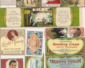 105 1930s plus Medicine cabinet Labels Drugstore,Pharmacy ,Poison ,BEAUTY,COSMETICS,French Perfume,Witch Hazel etc