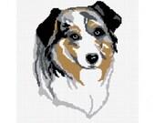 INSTANT DOWNLOAD Australian Aussie Dog Afghan Crochet Pattern Graph