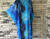 Plus Size Extra Long Tie Dye Tunic