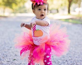First Birthday Outfit Pumpkin, Pink Pumpkin Birthday, 1st Birthday Girl Tutu, Pumpkin Party, Pumpkin Birthday Shirt