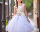 Gold Dress White Dress Fl...