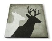 CUSTOM Deer Silhouette Painting, 12x12