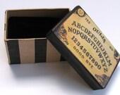 READY TO SHIP! Ouija Board Box, Gift Box, Velvet, Black Velvet, Halloween, Haunted