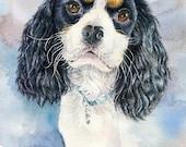 "Custom Watercolor Painting, Pet Portrait, Wall Art, Art, Gift Idea, Gift For Her, 8"" x10"", Gift, Home Art, Pet Art, Home Decor"
