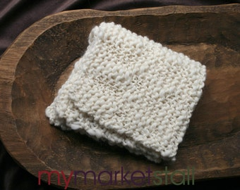 Natural Thick and Thin Merino Wool Stroller Blanket - Photo Prop for Layering - Ready to Ship