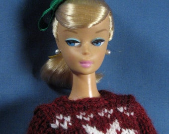 Barbie Clothes - Christmas Sweater and Slacks Set