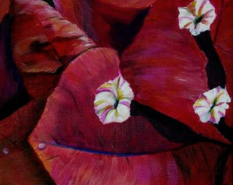 "DAFFODILS PANSIES BOGENVILLA Prints multi color rainbow flowers floral garden fall winter art 4""x6"""
