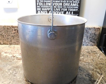 Rustic Bucket Farmhouse Primitive Shabby Chic Milk Pail