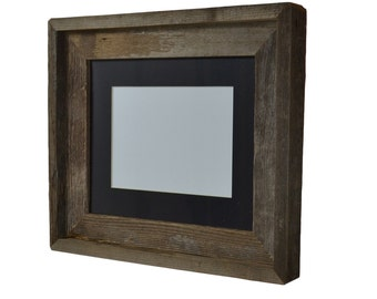 8x10 natural wood picture frame with 5x7 or 6x8 mat