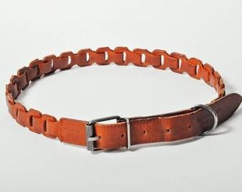 Vintage Giorgio Armani Brown Leather Belt