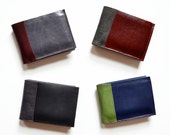 Mens Personalized Wallet / Mens Leather Wallet / Mens Custom Wallet / Mens Gift / Groomsman Gift - The Wesley Wallet Choose Your Colors