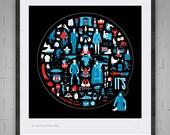 It's (The Genius of Monty Python) Giclee Print