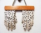 Vintage 60s Polka Dot Gloves