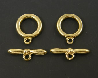 Gold Plated Toggle Clasps Jewelry Closure  Finding |G19-15|2