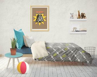 Star Wars Duvet Cover, TIE fighter duvet cover, star wars bedding, birthday gifts, king size duvet cover, toddler bedding