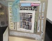 Fabric themed collage card - handmade - SALE