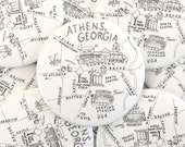 Athens, Georgia Map Magnets