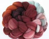 "Gradient Superwash Merino Wool Spinning Fiber, 4 oz, ""Daybreak"""
