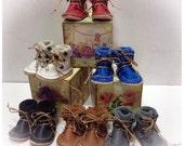 Handmade leather boots , grey , Blythe,Pullip , monsterhigh ,Lati yellow, pukifee