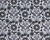 CLEARANCE! Parisian Parisian- Scroll Black by Riley Blake - Gray & Black fabric- Cotton Fabric- Fabric by the yard- Scroll Fabric- Quilt.